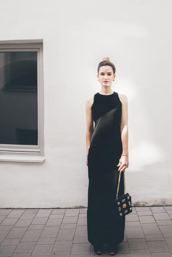 purstyle black dress vintage